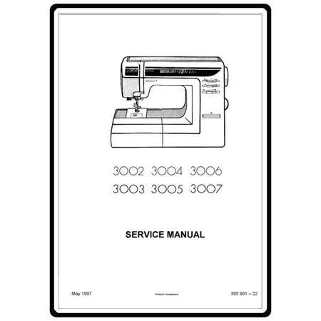 Service Manual, Elna 3005