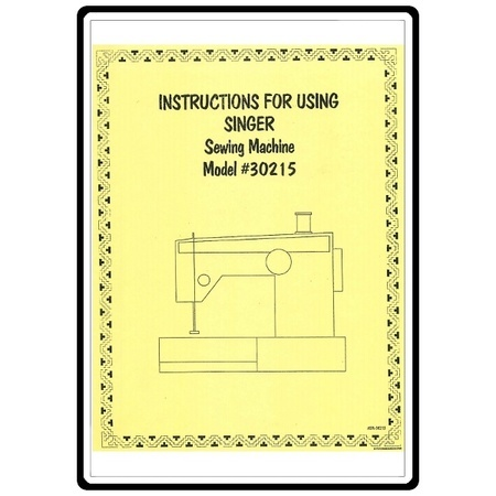 Instruction Manual, Singer 30218