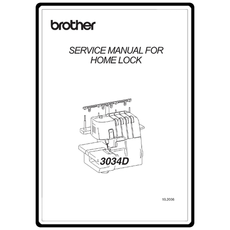 Service Manual, Brother 3034D