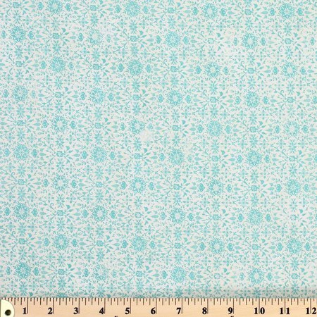 Moda, Evergreen Winter, Aqua Fabric