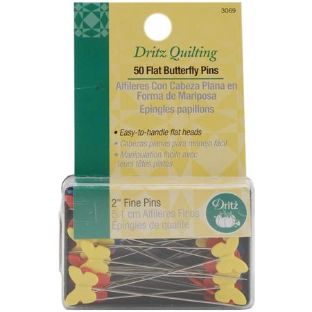 Universal 2in Quilting Flat Butterlfly Pins (50 CT), Dritz