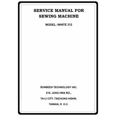 Service Manual, White 312