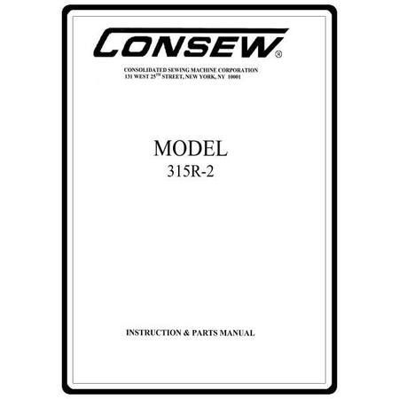 Instruction Manual, Consew 315R-2
