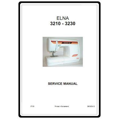 Service Manual, Elna 3230