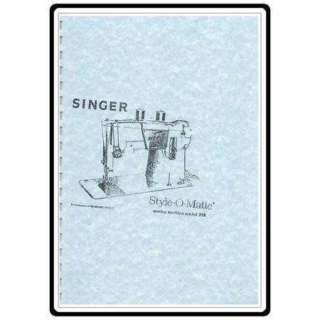 Instruction Manual, Singer 328