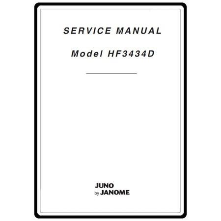 Service Manual, Janome HF3434D Juno