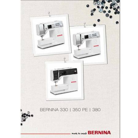 Instruction Manual, Bernina 350PE