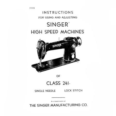 Instruction Manual, Singer 241