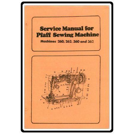 Service Manual, Pfaff 362