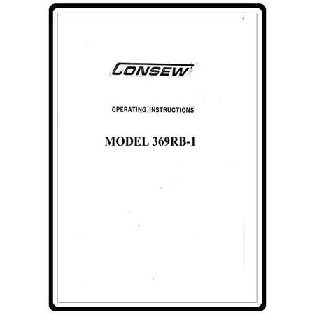 Instruction Manual, Consew 369RB-1