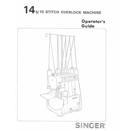 Instruction Manual, Singer 14U85B