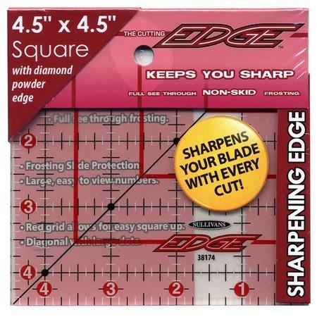 "The Cutting Edge Ruler 4.5"" x 4.5"", Sullivans"