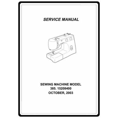 Service Manual, Kenmore 385.15208400