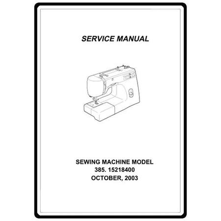 Service Manual, Kenmore 385.15218400
