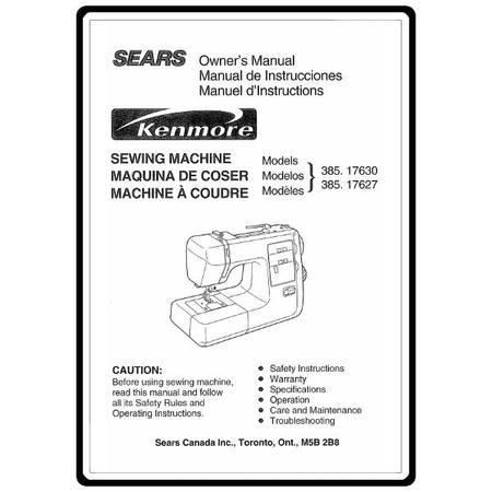 Instruction Manual, Kenmore 385.17630