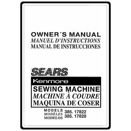 Instruction Manual, Kenmore 385.17822490