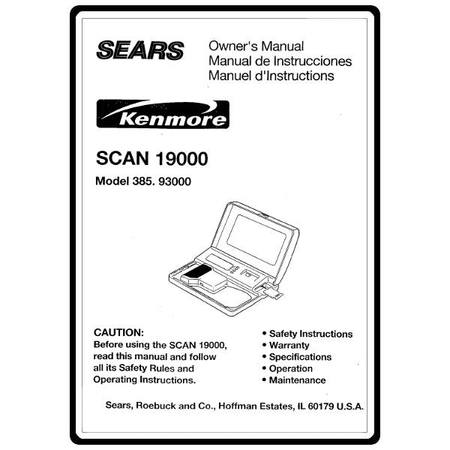 Instruction Manual, Kenmore 385.93000 Models