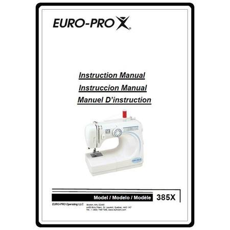 Instruction Manual, Euro Pro 385X