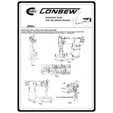 Instruction Manual, Consew 389RB