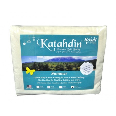 "Bosal Katahdin Premium Cotton Batting - 90in x 108"""