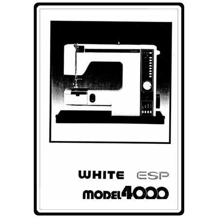 Instruction Manual, White 4000