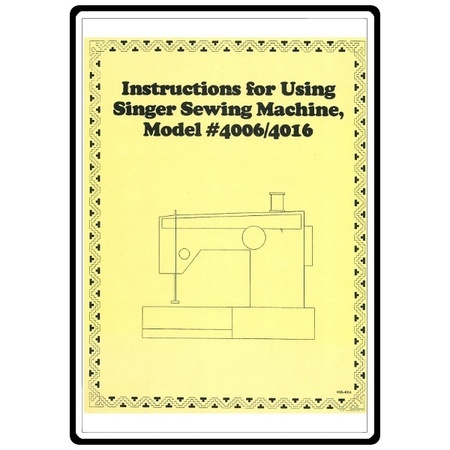 Instruction Manual, Singer 4001