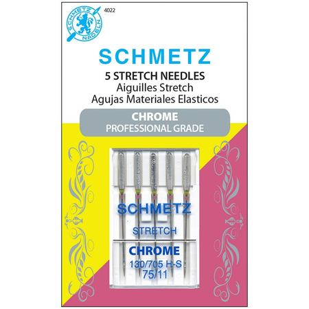 Chrome Stretch Needles, Schmetz (5pk)