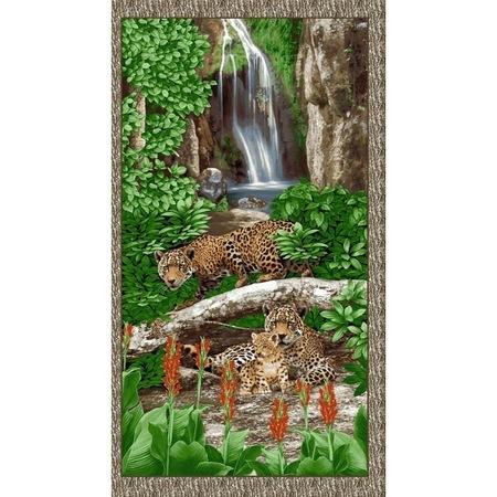 Studio E, On the Wild Side, Leopard Habitat Fabric Panel