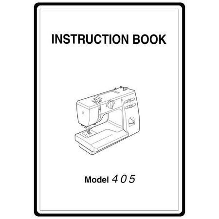 Instruction Manual, Janome 405