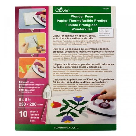 "10pk Wonder Fuse 9""x 8"" Sheets, Clover"