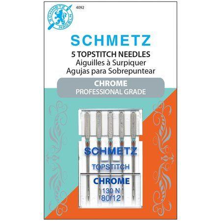 Chrome Topstitch Needles, Schmetz (5pk)