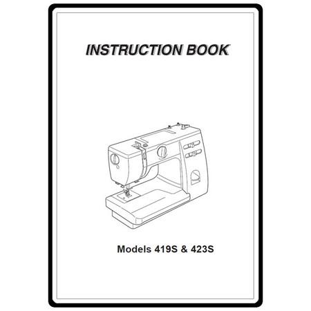 Instruction Manual, Janome 419S
