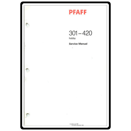 Service Manual, Pfaff 420