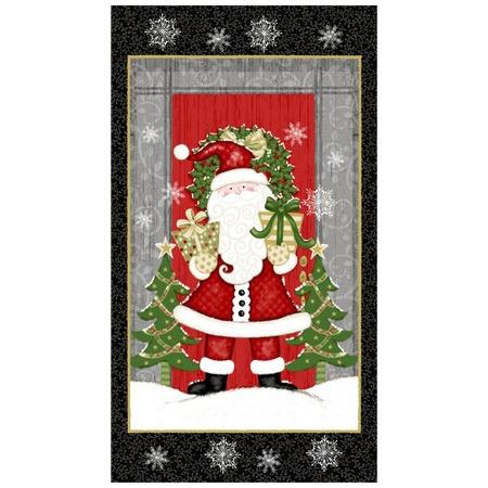 Studio E, Winter Greetings, Santa Claus Fabric Panel