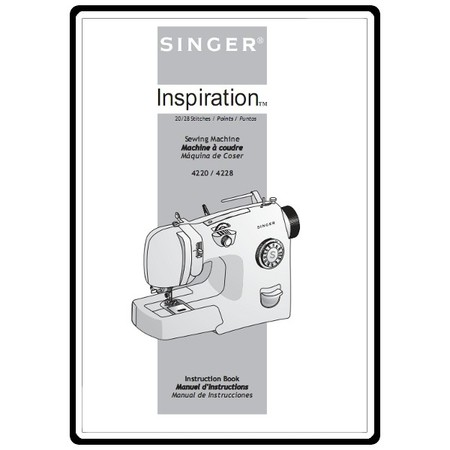 Instruction Manual, Singer 4228