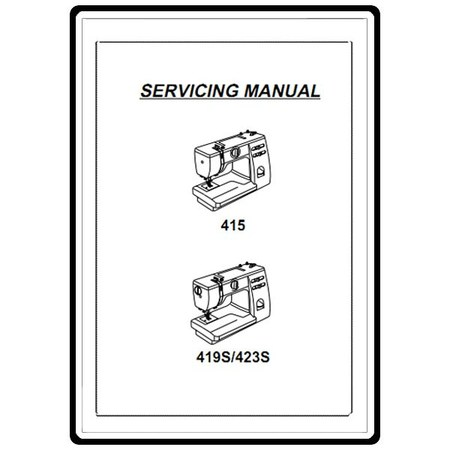 Service Manual, Janome 423S