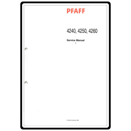 Service Manual, Pfaff 4260