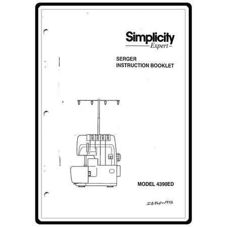 Instruction Manual, Simplicity SL4390ED