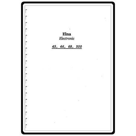 Instruction Manual, Elna Jubilee Electronic 66