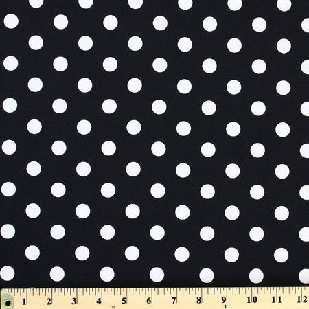 Moda Classic, Medium Dottie, Jet Black Fabric
