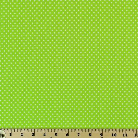 Moda Classic, Small Dottie, Summer Lime Fabric