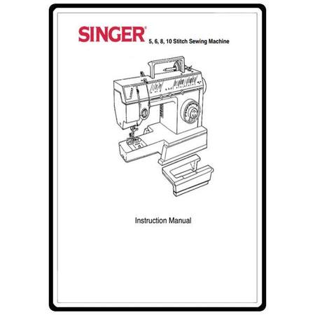 Instruction Manual, Singer 8020