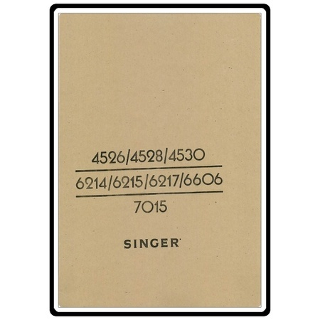 Instruction Manual, Singer 7015