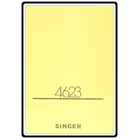 Instruction Manual, Singer 4623