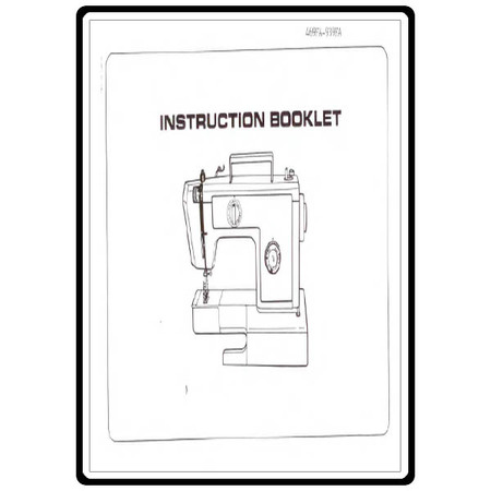 Instruction Manual, Riccar 939FA