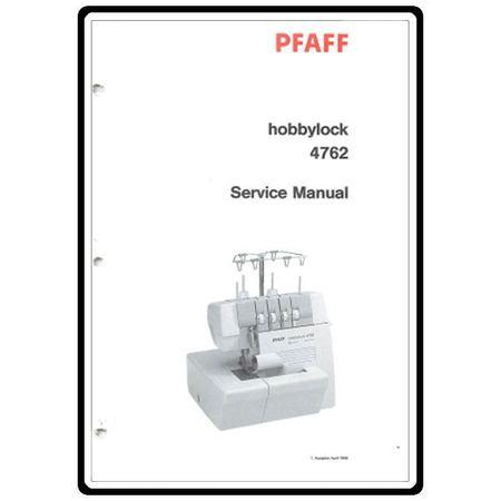 Service Manual, Pfaff 4762