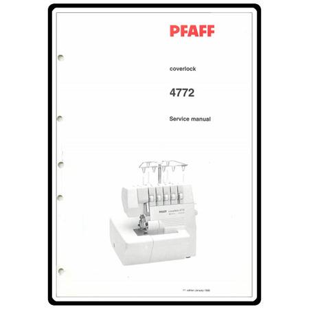 Service Manual, Pfaff 4772