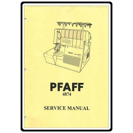 Service Manual, Pfaff 4874