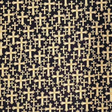 Kanvas Studio, Bible Study, Divine Cross Fabric - Black