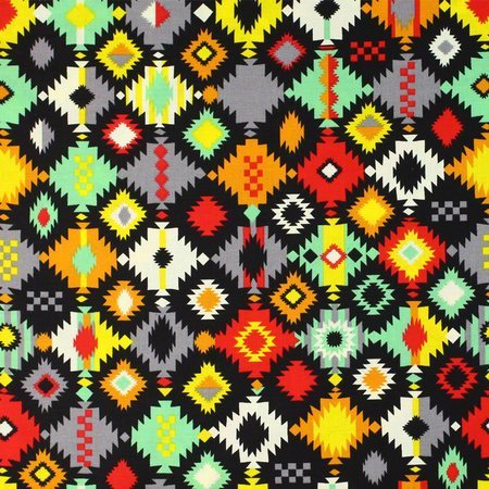 Navajo Crystal Print Fabric, Multi/Bright